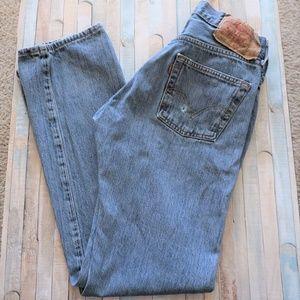VTG Levi's 501 High Rise Light Wash Mom Jeans 30